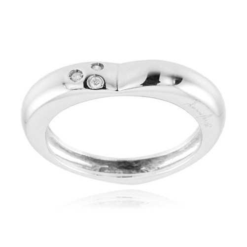 Anello a cuore in oro bianco e diamanti  Anelli oro diamanti AN390D03
