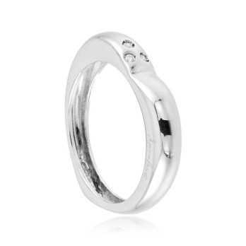 Anello a cuore in oro bianco e diamanti Zoppi Gioielli jewelry Anelli oro diamanti AN390D03