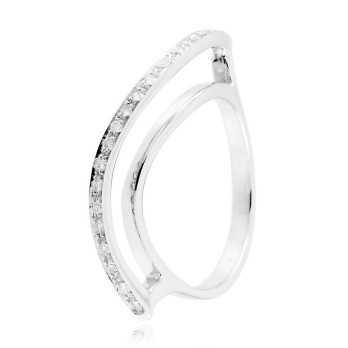 Anello fantasia a onda in oro bianco e diamanti Zoppi Gioielli jewelry Anelli oro diamanti AN350D15