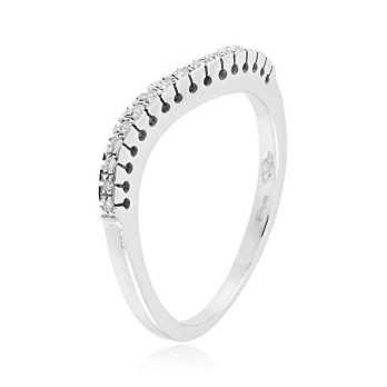 Anello riviera a onda in oro bianco e diamanti Zoppi Gioielli jewelry Anelli oro diamanti AN280D06
