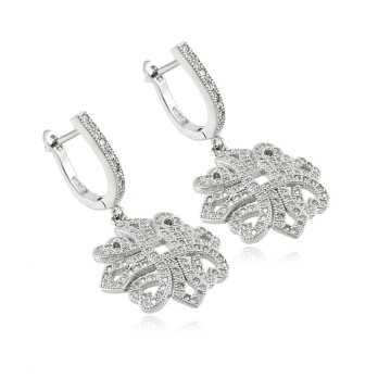 Orecchini a fiore in argento e swarovski Le Meraviglie Orecchini Donna ORAGMS01