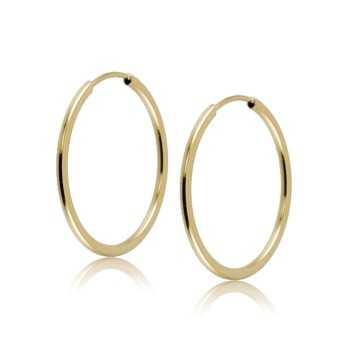 Orecchini cerchietto 20mm in oro giallo Zoppi Gioielli jewelry Home OR60AU
