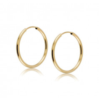 Orecchini cerchietto 18mm in oro giallo Zoppi Gioielli jewelry Home OR65AU18