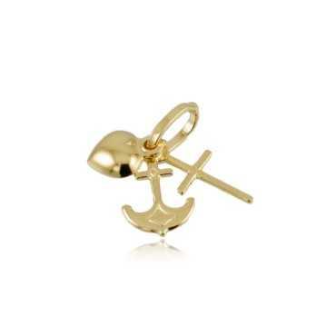Fede speranza e carita' in oro giallo Zoppi Gioielli jewelry Ciondoli CN90AU