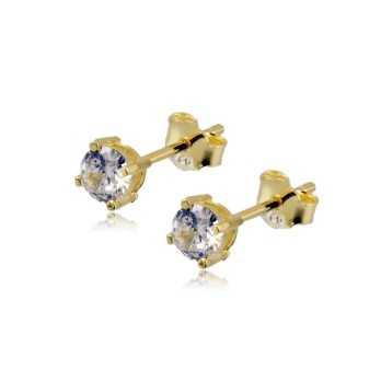 Orecchini punto luce 4mm in argento dorato Alexia Gioielli Home OR15AG4O