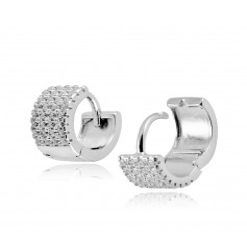 Orecchini unisex in argento e pietre