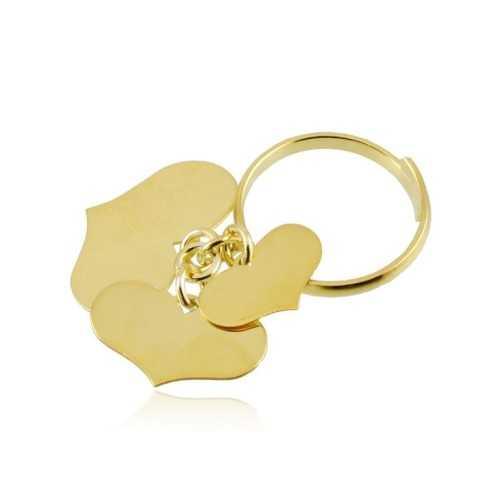 Anello argento dorato con 3 cuori Zoppi Gioielli bijoux Anelli Donna AN10AGO3