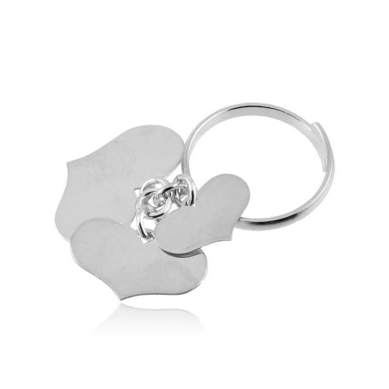 Anello argento con 3 cuori Zoppi Gioielli bijoux Anelli Donna AN10AG3