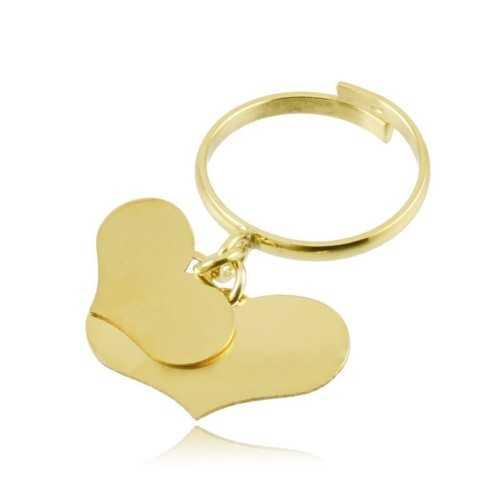 Anello argento dorato con 2 cuori Zoppi Gioielli bijoux Anelli Donna AN9AGO2