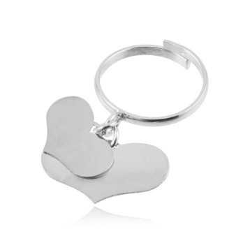 Anello argento con 2 cuori Zoppi Gioielli bijoux Anelli Donna AN9AG2