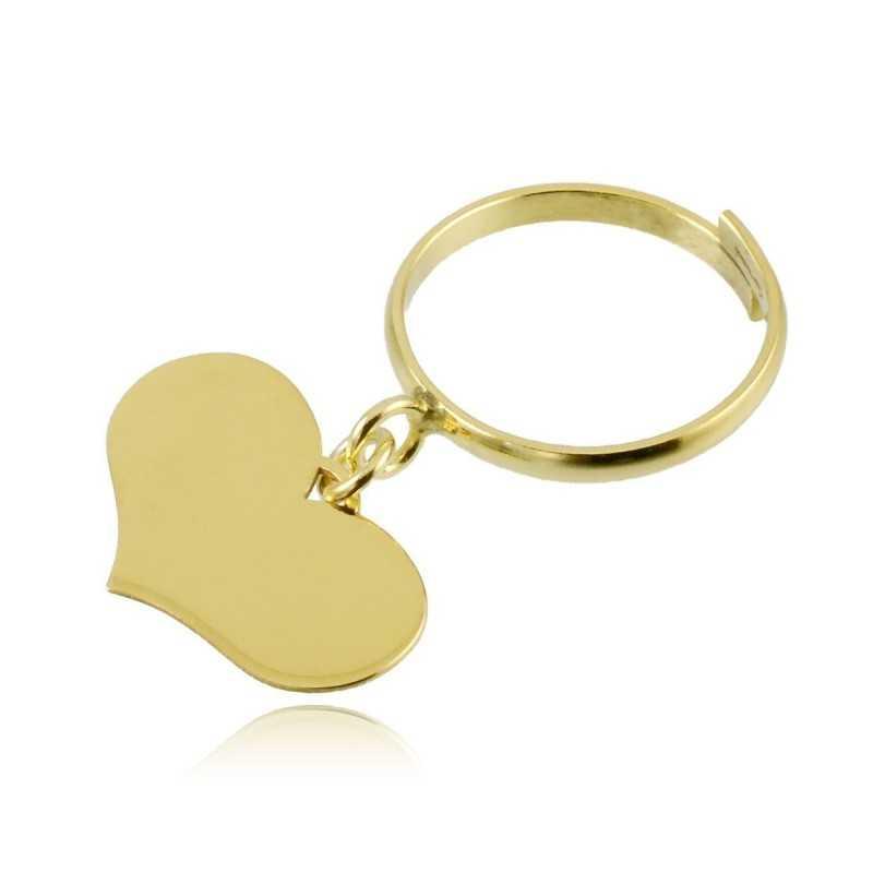 Anello argento dorato con cuore pendente Zoppi Gioielli bijoux Anelli Donna AN8AGO1