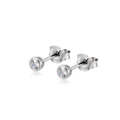 Orecchini punto luce 4 mm a cipollina Alexia Gioielli Home RB5AGPL4T