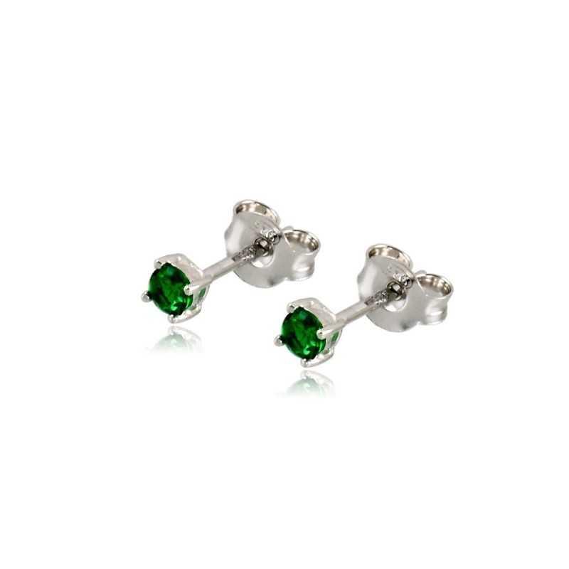 Orecchini punto luce verde 3 mm Alexia Gioielli Home RB6AGPL3V